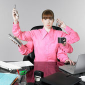 Funny woman at the office — Stock Photo