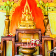Buddha altar in a budhist temple — Stock Photo