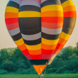 One Hot Air Balloon reunion - Stock Photo