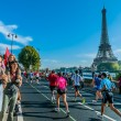 Running paris marathon france - Stock Photo