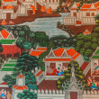 Paintings Royal palace bangkok thailand — Stock Photo