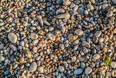 Pebbles stones of etretat beach in normandie france — Stock Photo