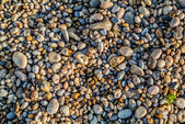 Pebbles stones of etretat beach in normandie france — Stock Photo