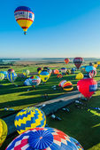 Mondial hot Air Ballon reunion in Lorraine France — ストック写真