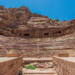 Roman theater arena in nabatean city of  petra jordan - Foto de Stock