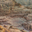 Roman theater arena in nabatean city of  petra jordan — Foto de Stock