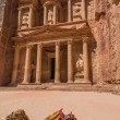 Al Khazneh or The Treasury in nabatean city of  petra jordan - ストック写真