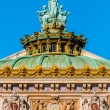 Stock Photo: OperGarnier rooftop paris city France