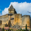 Castle of castelnaud la chapelle france — Stock Photo
