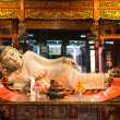 Reclining statue in the The Jade Buddha Temple shanghai china - Stok fotoğraf