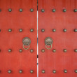 Red doors Wen Miao confucius temple shanghai china — Stock Photo