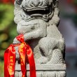 Chinese imperial lion statue in the The Jade Buddha Temple shang — Stock Photo