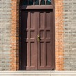 Giant step door in church shanghai china — Stock Photo