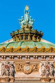 Opera Garnier rooftop paris city France — Stock Photo