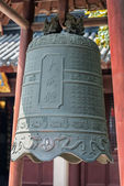 Bell in Wen Miao confucius temple shanghai china — Stock Photo