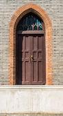 Giant step door in church shanghai china — Foto Stock