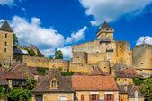 Castle of castelnaud la chapelle france — Stock Photo