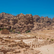 Stock Photo: Romtemple in nabatecity of petrjordan