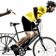 Doping sport concept man silhouette — Stock Photo