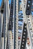 Waibaidu brug structuur detail shanghai china — Stockfoto