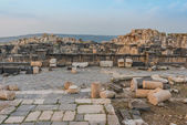 Umm Qais gadara romans ruins jordan — Stock Photo
