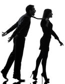 Couple woman seductress bonding concept silhouette — Stock Photo
