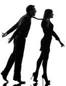 Couple woman seductress bonding concept silhouette — Stock Photo