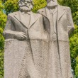 Stock Photo: Marx and engels statue in fuxing park shanghai china