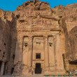 Urn Tomb in nabatean city of  petra jordan — Stock Photo