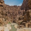 Canyon wadi mujib jordan — Stock Photo