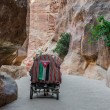 Stock Photo: Siq path in nabatecity of petrjordan