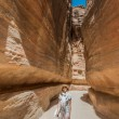 The siq path in nabatean city of petra jordan — Stock Photo #31159723