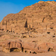 Royal tombs in nabatean city of  petra jordan — Stock Photo