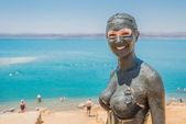 Dead sea mud body care treatment jordan — Stock Photo