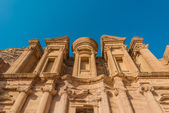 The Monastery (Al Deir) in nabatean city of petra jordan — Stock Photo