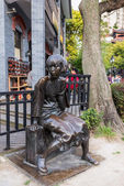 Ding ling statue of Duolun Road Hongkou District shanghai china — Stock Photo