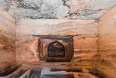 Indoors tomb in petra jordan — Stock Photo