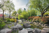 Scenic view of gucheng park shanghai china — Stock Photo