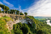 Panoramic view from dome dordogne — Stock Photo