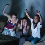 Watching sport on tv — Stock Photo #31533195