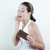 Chocolate temptation — Stock Photo