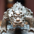 Stock Photo: Dragon statue in Jade BuddhTemple shanghai china