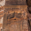Tomb in nabatean city of  petra jordan — Stock Photo