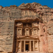 Al Khazneh or The Treasury in nabatean city of  petra jordan — Stok fotoğraf