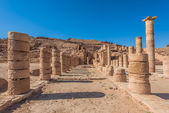 Roman temple in nabatean city of petra jordan — Stock Photo