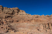 Roman theater arena in nabatean city of petra jordan — Stock Photo