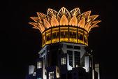 Westin bund centrum střešní koruny lotus šanghaj, čína — Stock fotografie
