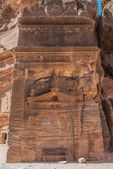 Tomb in nabatean city of petra jordan — Stock Photo
