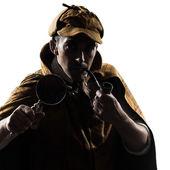 Sherlock holmes silhouette — Stock Photo