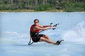 Kite surfing in brazil — Stock Photo